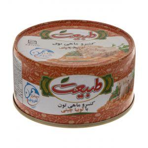 کنسرو ماهی لوبیا چیتی 180 گرم طبیعت