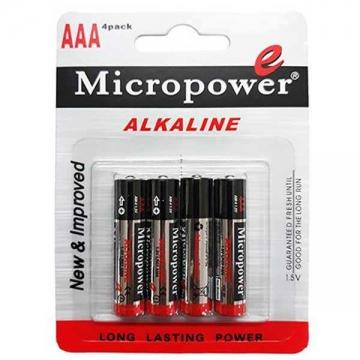 باتری نیم قلمی آلکالاین 4 عددی میکروپاور
