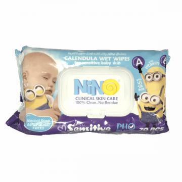 دستمال مرطوب کودک پوست حساس 70 عددی نینو