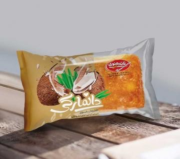 شیرینی دانمارکی نارگیل و شکلات 65 گرم رضوی