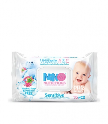 دستمال مرطوب کودک میوه ای 70 عددی نینو